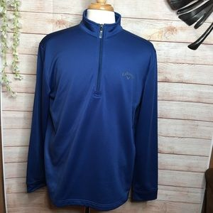 Callaway blue half zipper fleece lined sweatshirt